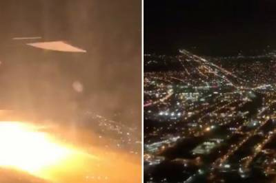 اڑان بھرتے ہی طیارے کے انجن میں آگ بھڑک اٹھی
