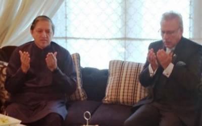 صدرمملکت ڈاکٹرعارف علوی کی ڈپٹی چیرمین سینیٹ سلیم مانڈوی والا کے گھر آمد ،بیٹے کی وفات پر تعزیت کی