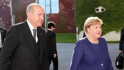 ترک صدر کی جرمن چانسلرانجیلا مرکل سے ملاقات
