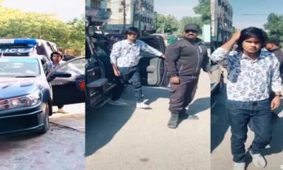 کراچی:پولیس موبائل میں بنی نئی ٹک ٹاک ویڈیو وائرل