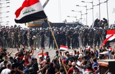 بغداد:سکیورٹی فورسز کی مظاہرین پر فائرنگ،5 افراد ہلاک
