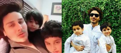 احسن خان کی بیٹوں کے ہمراہ بنائی گئی مزاحیہ ٹک ٹاک ویڈیو جاری