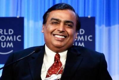مکیش امبانی مسلسل 12 ویں بار امیر ترین بھارتی قرار
