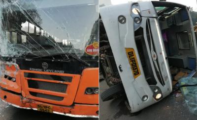 نئی دہلی، سکول بس اور کلسٹر بس میں تصادم، 6 بچے زخمی