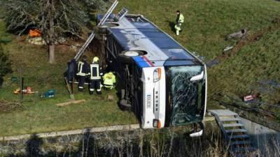 جرمنی میں اسکول بس کھائی میں جا گری، 2 بچے ہلاک