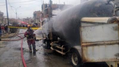 پیرو، ٹینکرمیں گیس سیلنڈر پھٹنے سے ایک شخص ہلاک، 50 افراد خمی