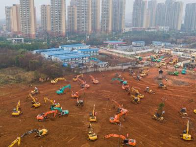 چین کے ووہان شہر میں کرونا وائرس سے نمٹنے کےلئے نئے ہسپتال کی تعمیر شروع