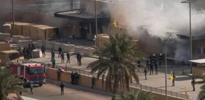 بغداد کے گرین زون میں امریکی سفارت خانے کے نزدیک پانچ راکٹ آ گرے