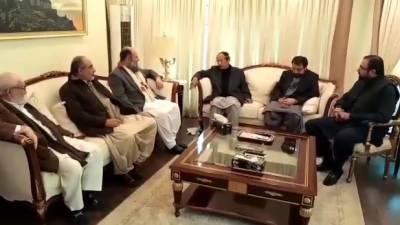 چوہدری شجاعت حسین سے وزیر اعلیٰ بلوچستان جام میر کمال آلیانی کی ملاقات