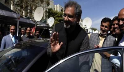 ایل این جی ریفرنس کیس:شاہد خاقان عباسی کے جوڈیشل ریمانڈ میں 21 فروری تک توسیع