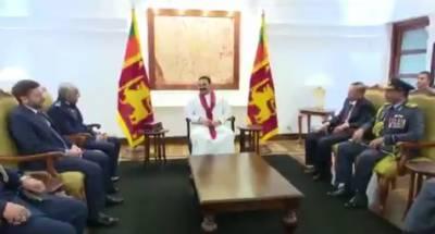 ائیر چیف مارشل مجاہد انور خان کا سری لنکا کا دورہ,وزیر اعظم مہندا راجاپکسا سے ملاقات
