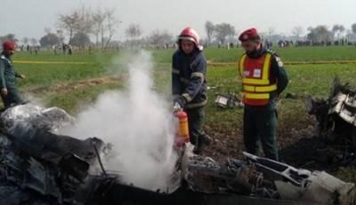 شورکوٹ:پاک فضائیہ کا طیارہ گر کر تباہ،پائلٹ محفوظ