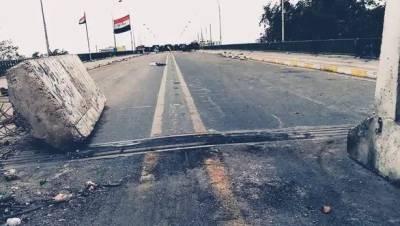عراقی پولیس نے وسطی بغداد کا السنک بریج کھول دیا