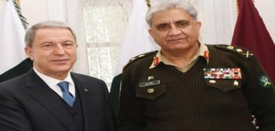 پاکستان ترکی کے ساتھ بھائی کی طرح کھڑا ہے. آرمی چیف جنرل قمر جاوید باجوہ