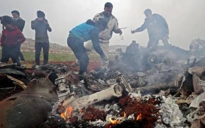 شام میں فوجی ہیلی کاپٹر گرکر تباہ، پائلٹ سمیت دو افراد ہلاک