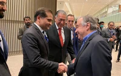 سیکرٹری جنرل اقوام متحدہ پاکستان پہنچ گئے، سیاسی و عسکری قیادت سے ملاقاتیں طے