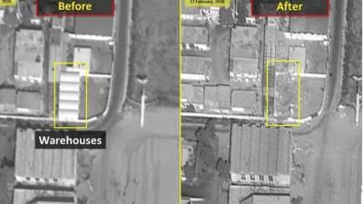 دمشق میں پاسداران انقلاب کے اسلحہ گوداموں کی تباہی کی تصاویر جاری
