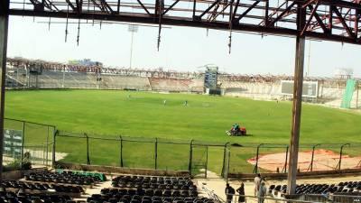 کراچی: پی ایس ایل فائیو ،نیشنل اسٹیڈیم میں فل ڈریس ریہرسل جاری