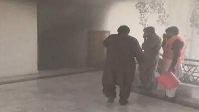 پارلیمنٹ لاجز کی تیسری منزل پر مریم اورنگزیب کے فلیٹ میں لگی آگ پر قابو پالیا گیا