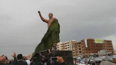 جنوبی لبنان کے بعد ایران کے شہر اہواز میں قاسم سلیمانی کا مجسمہ