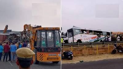 بھارت، مسافر بس اور ٹرک کے درمیان تصادم، 20 افراد ہلاک، 15 زخمی