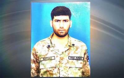 بھارتی فورسزکی ایل اوسی پر بلااشتعال فائرنگ ،سپاہی امتیاز علی شہید:آئی ایس پی آر