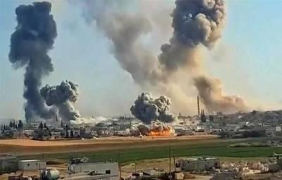 شام کے شہر ادلب میں ترک فوج کے فضائی حملے، 50 فوجی جاں بحق