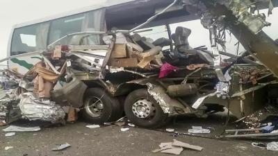 بھارت ، راجستھان میں بس اور جیپ میں تصادم ، 6 افراد ہلاک ، متعدد زخمی