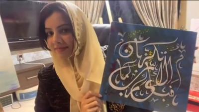 پینٹنگ میں قرآن پاک کی آیات لکھتی ہوں,مکمل کرنے میں پوری عمر درکار ہے:رابی پیرزادہ