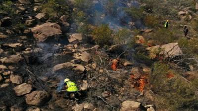 سعودی عرب : الدائر ضلع میں 3 روز سے بھڑکنے والی آگ بجھا دی گئی