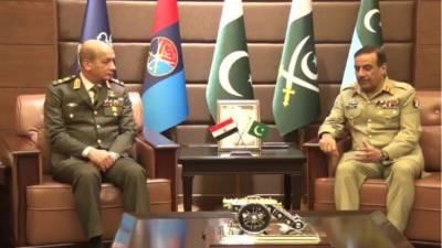 چیئر مین جوائنٹ چیفس آف سٹاف جنرل ندیم رضا سے مصری فوج کے کمانڈر کی ملاقات