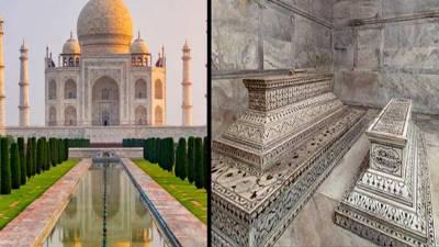 بھارتیوں نے تاج محل کو بنانے والی شہنشاہ کی قبر کو تین سو سال بعد صاف کیا