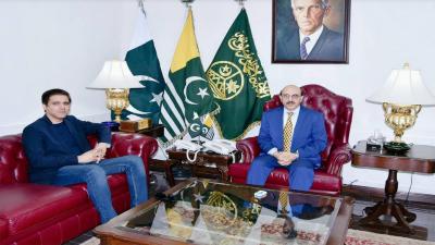 صدر آزاد جموں و کشمیر کی سلمان مسعود سے ملاقات