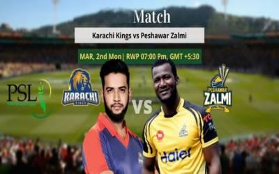 پی ایس ایل 5: آج کراچی کنگزاور پشاور زلمی کےدرمیان مقابلہ ہوگا