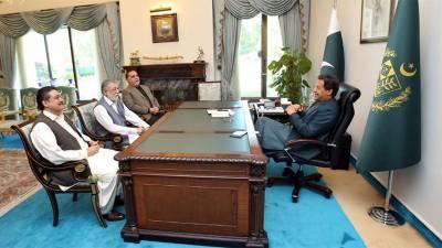 وزیراعظم سے گورنر سندھ اور پیرپاگارا کی ملاقات