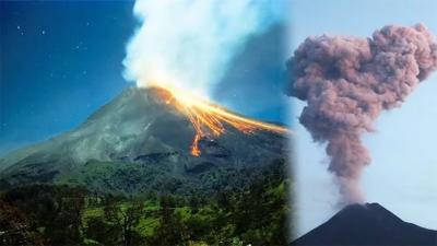 انڈونیشیا میں ماؤنٹ میراپی آتش فشاں سے راکھ نکلنے کا سلسلہ جاری