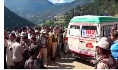 مقبو ضہ کشمیر:مسافر گاڑی دریائے چناب میں گر گئی،6افراد جاں بحق