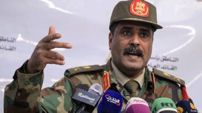 تُرکی مختلف ہوائی اڈوں سے اسلحہ سپلائی کر رہا ہے:جنرل المسماری