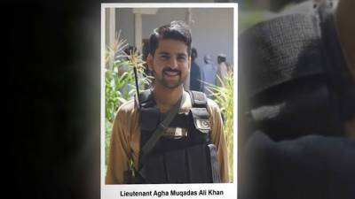 شہید لیفٹیننٹ آغا مقدس علی خان فوجی اعزاز کیساتھ سپرد خاک