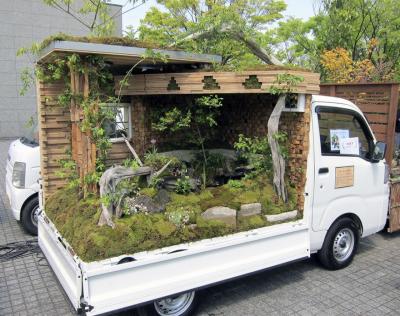 جاپان: ٹرکوں پر خوبصورت باغیچے بنانے کا انوکھا مقابلہ
