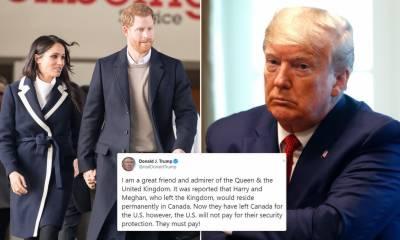 امریکہ شہزادہ ہیری کےسیکیورٹی اخراجات برداشت نہیں کرےگا ،ٹرمپ کااعلان