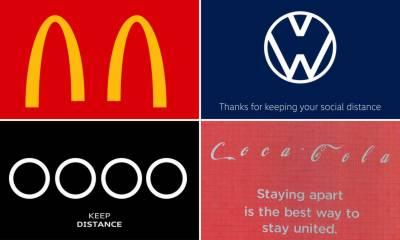 عالمی برانڈز کا اپنے لوگو کے ذریعے سماجی دوری اختیار کرنے کا مشورہ