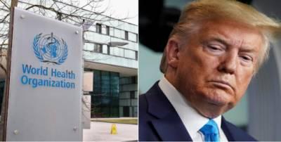 ٹرمپ نے عالمی ادارہ صحت کی فنڈنگ روک دی