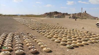 یمن میں حوثیوں کی بچھائی ہزاروں بارودی سرنگیں تلف کردی گئیں