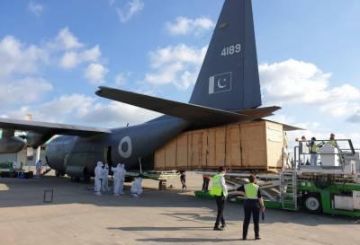 پاک فضائیہ کا طیارہ ترکی پہنچ گیا