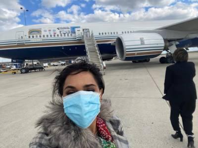 اداکارہ میرا واشنگٹن سے لاہور پہنچ گئیں