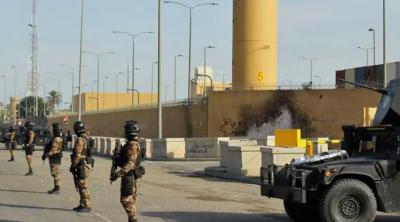 بغداد : امریکی سفارتخانے پر راکٹ حملہ ، جانی و مالی نقصان نہیں ہوا