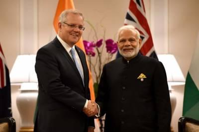 بھارت اور آسٹریلیا میں ایک دوسرے کے فوجی اڈے استعمال کرنے کا معاہدہ