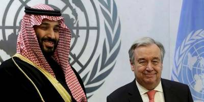 محمد بن سلمان اور یو این سیکرٹری جنرل کے درمیان خطے کی صورت حال پر بات چیت