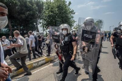 ترکی کے شمال مغربی علاقے میں کردنوازوں کا احتجاجی مظاہرہ ،10 گرفتار